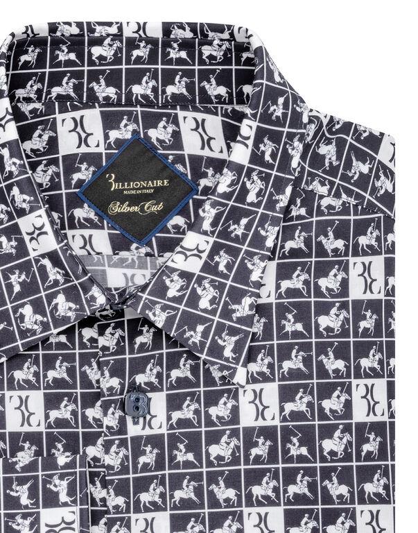 Shirt Silver Cut LS/Milano Horses