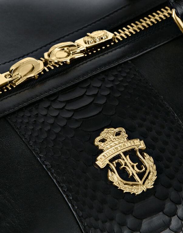 Medium Travel Bag with Python Luxury