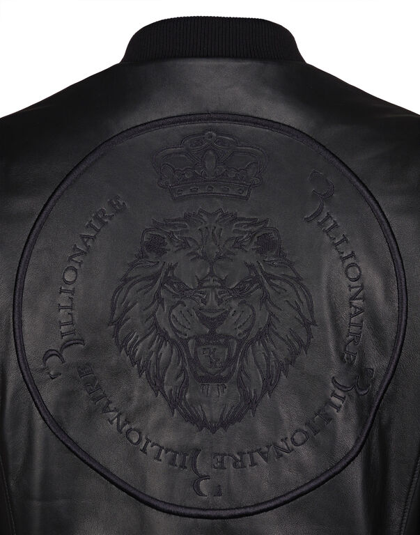 "Leather Bomber ""Virgil"""