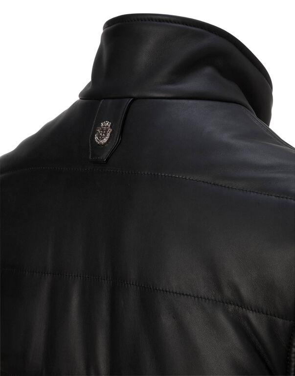 """Leather Vest Short """"Douglas"""""""