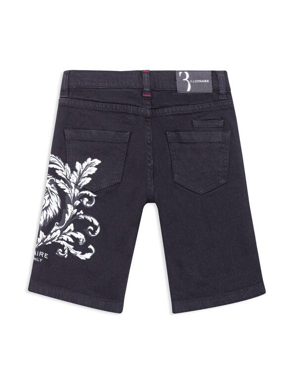 Short Denim Trousers Lion