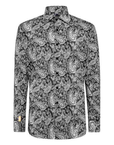 Shirt Gold Cut LS Flavio/Watch Paisley