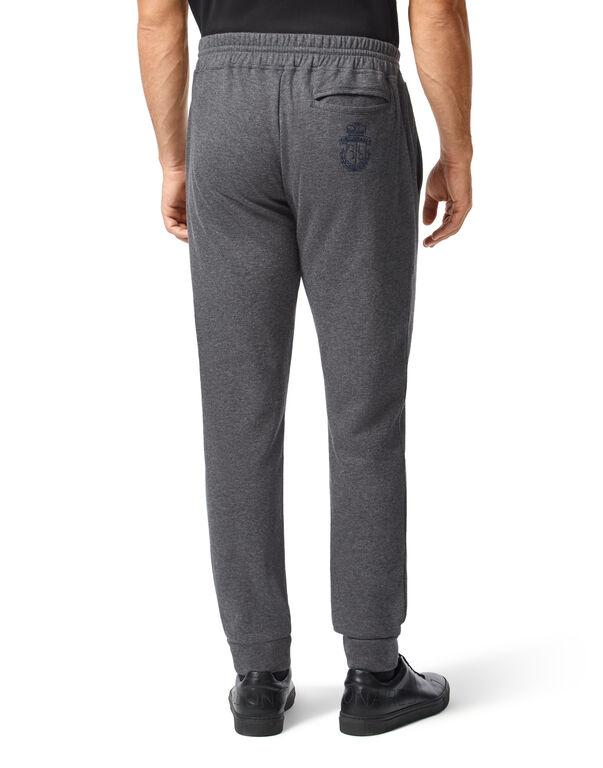 Cotton and Cashmere Jogging Trousers -T Crest
