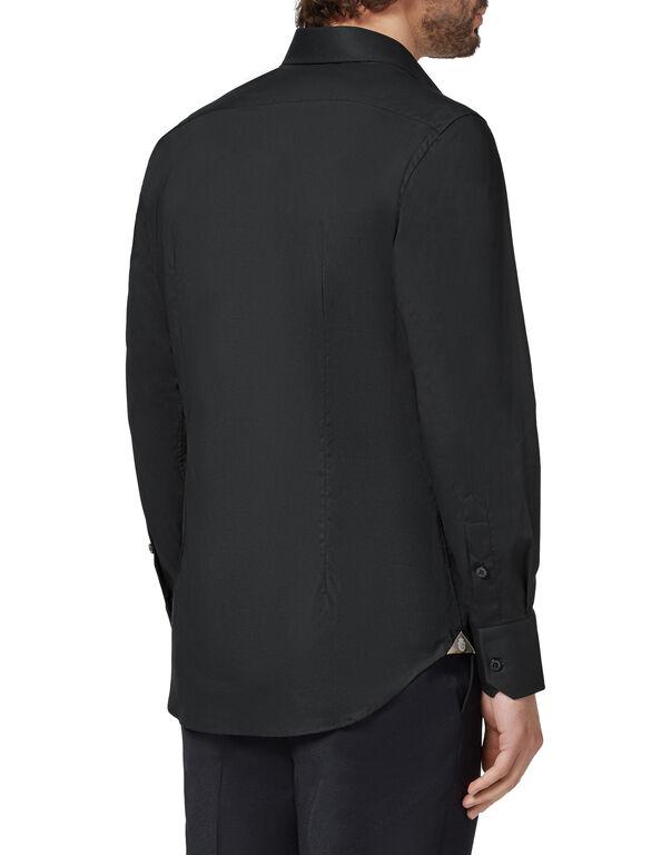 Shirt Silver Cut LS/Milano Crest