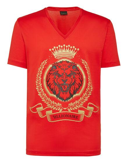 T-shirt V-Neck SS Lion
