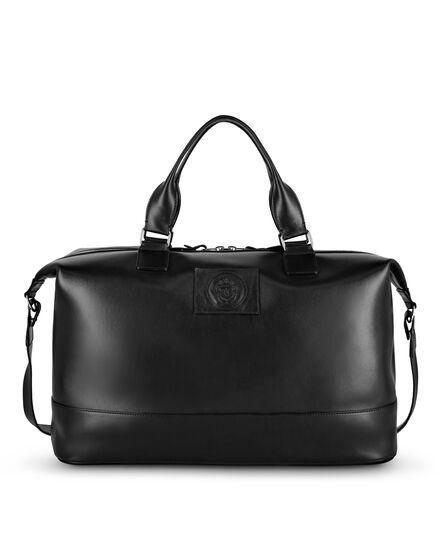 Leather Medium Travel Bag Crest