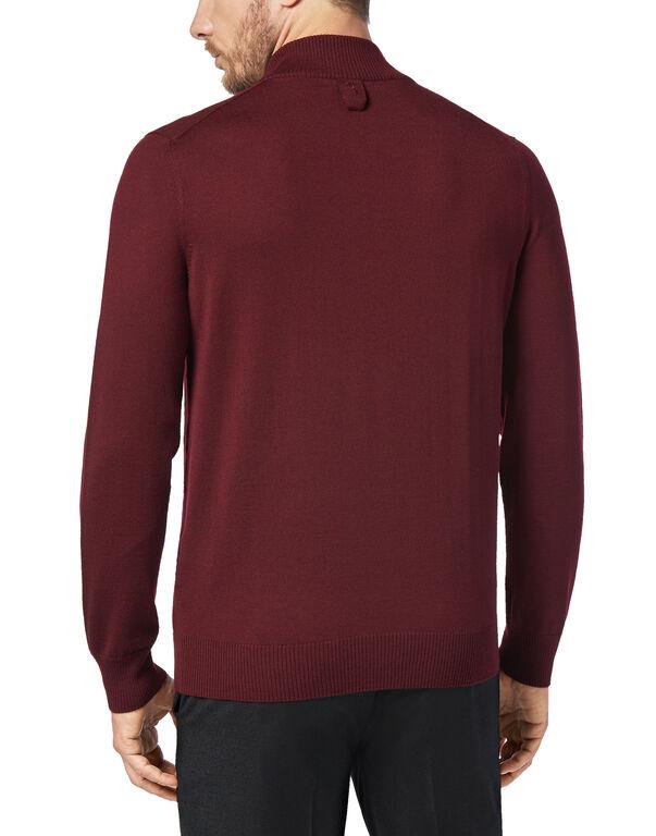 Pullover zip mock Logos