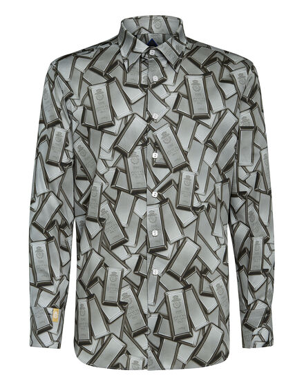 Shirt Silver Cut LS/Milano Gold