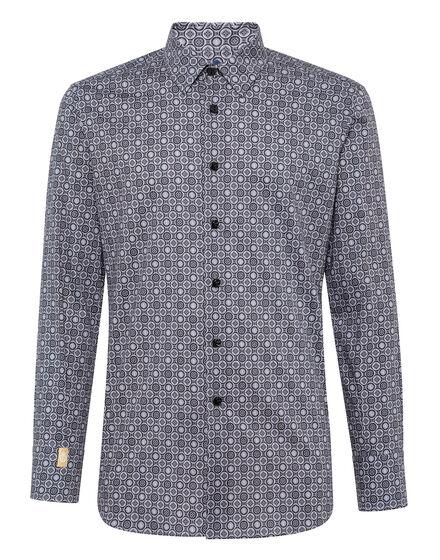 Shirt Silver Cut LS/Cristal Geometric