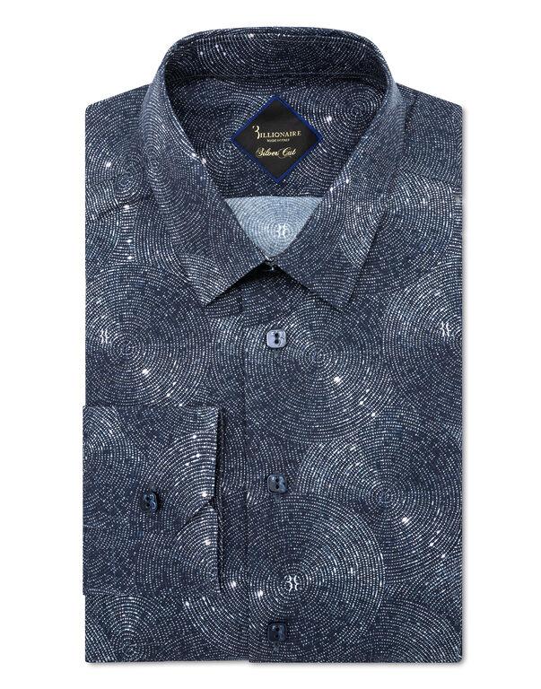 Shirt Gold Cut LS Crystal/Multi Geometric