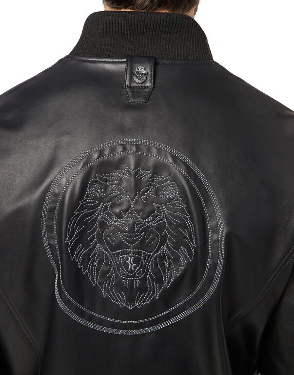 Leather Bomber Lion
