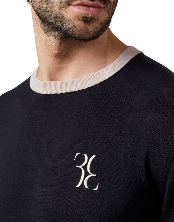 Pullover Round Neck LS Double B