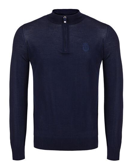 Pullover zip mock Kensing
