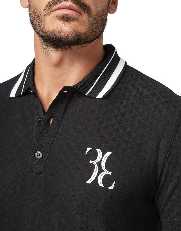 Polo shirt SS Jacquard Double B