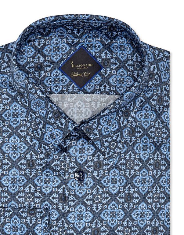 Shirt Silver Cut LS/Milano Floral Geometric