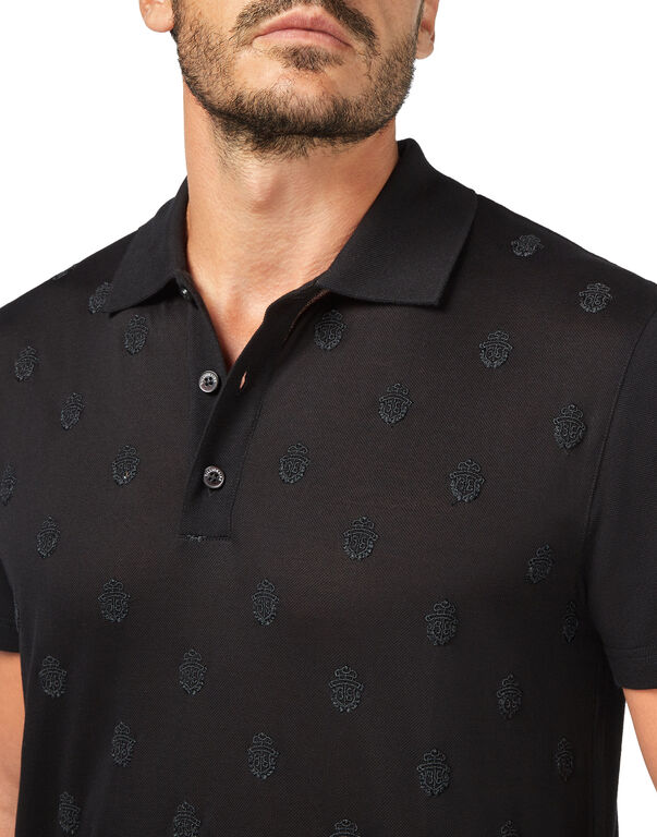 Polo shirt SS All over Crest