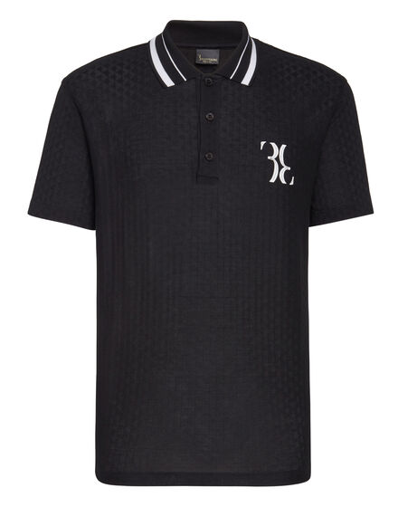 Polo shirt SS Jacquard Double B