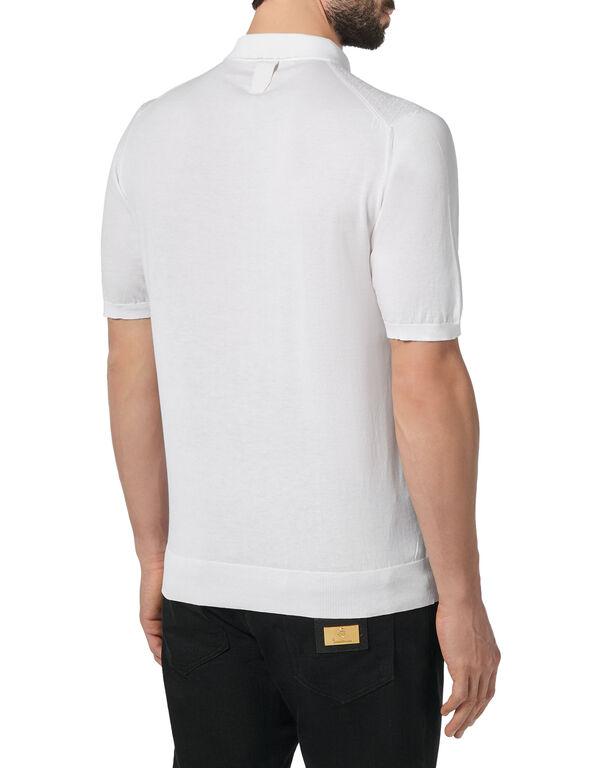 Pullover zip mock SS Luxury