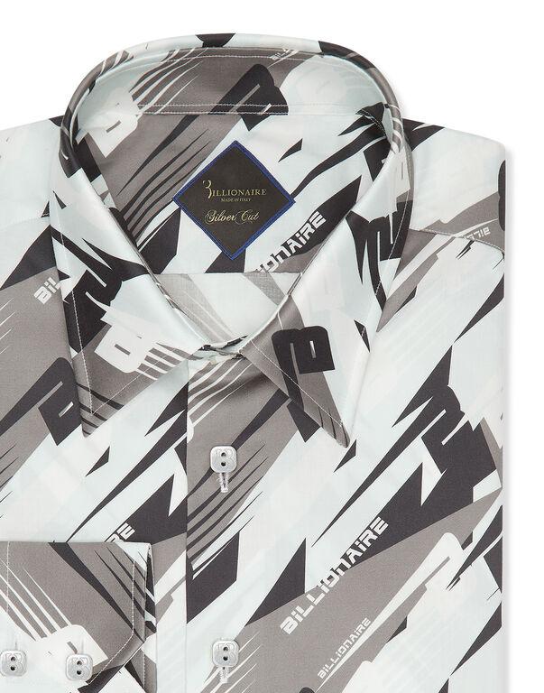 Shirt Silver Cut LS/Milano Cars Racing