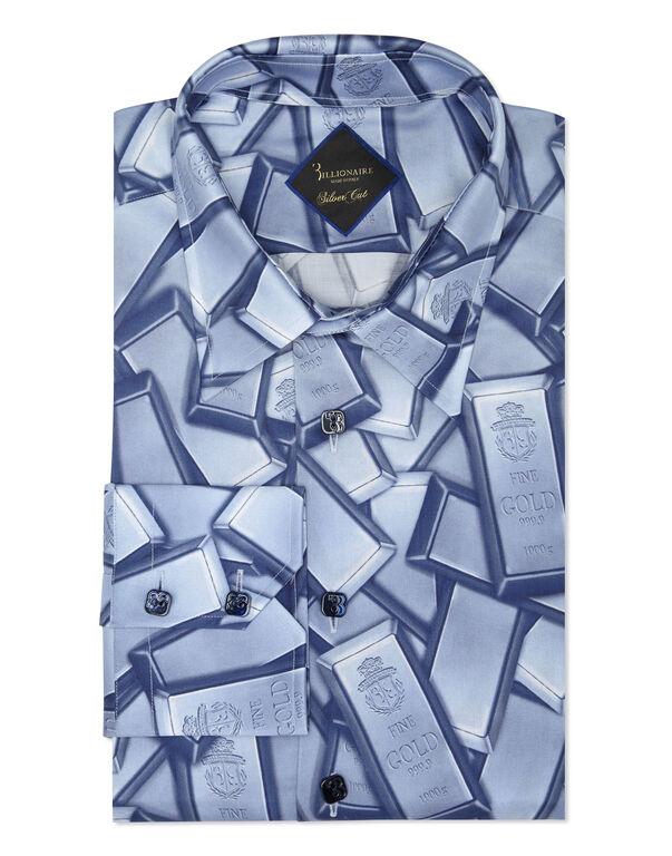 Shirt Silver Cut LS/Milano Gold