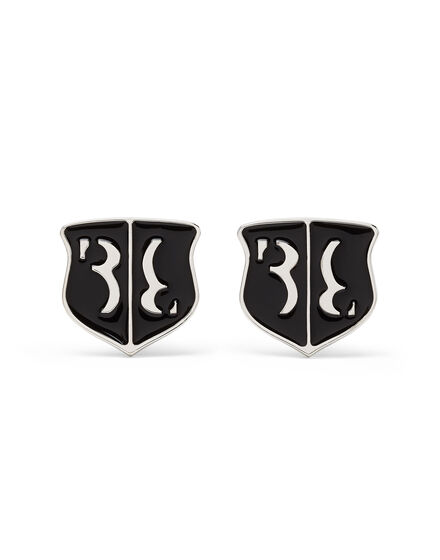 metal cufflinks set Double B