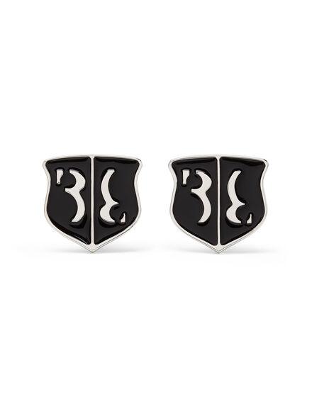 metal cufflinks set Double B
