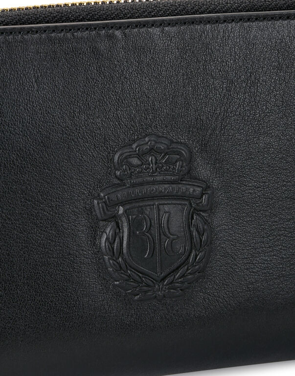 L-zip around Embossed Crest