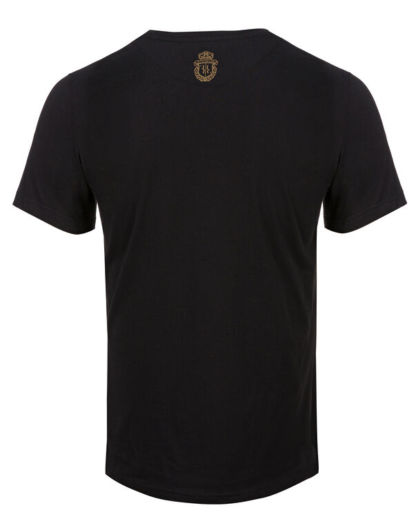 T-shirt V-Neck SS Double Lion