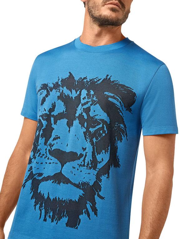 T-shirt Round Neck SS Jacquard Lion