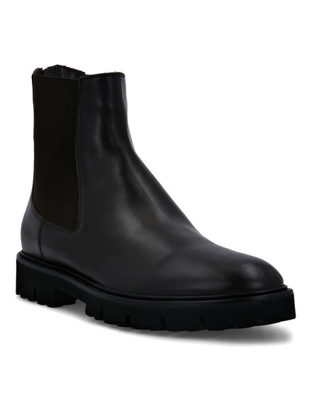 Leather Boots Low Flat Iconic
