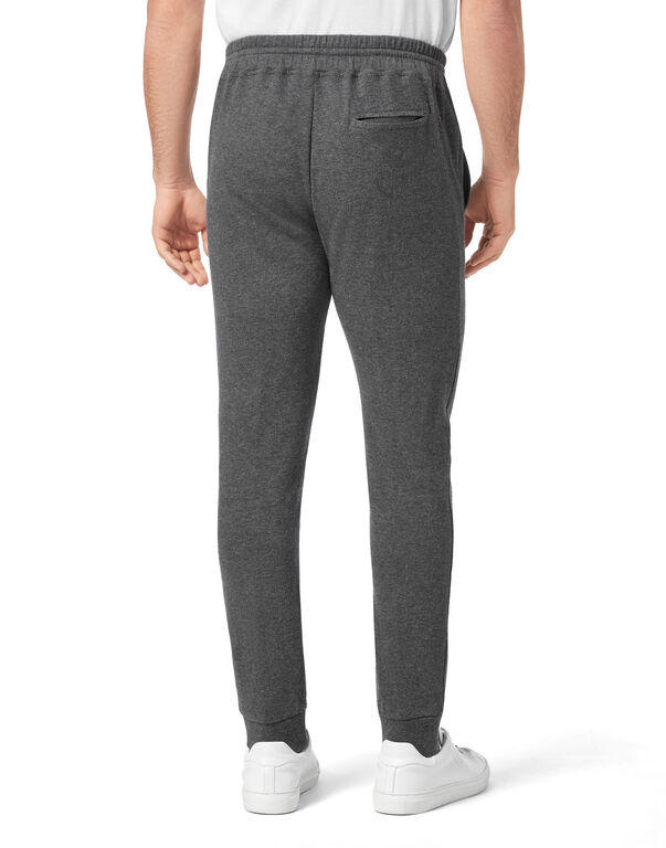 Cotton and Cashmere Jogging Trousers Crest