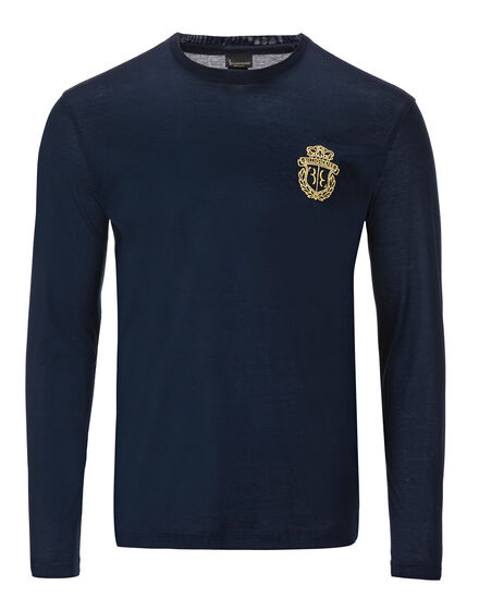 T-shirt Round Neck LS Crest