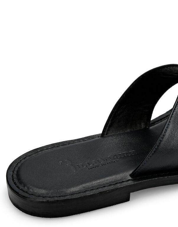 Sandals Flat Logos