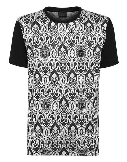 T-shirt Round Neck SS Jacquard  Baroque