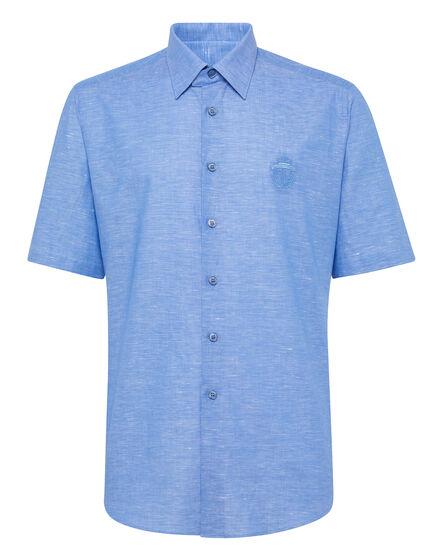 Shirt Silver Cut SS/Milano Crest