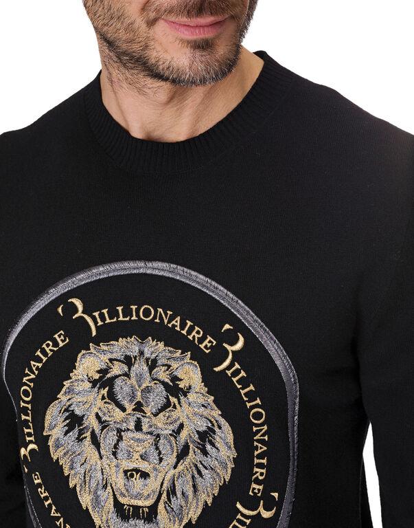 """Pullover Round Neck LS """"Lion"""""""