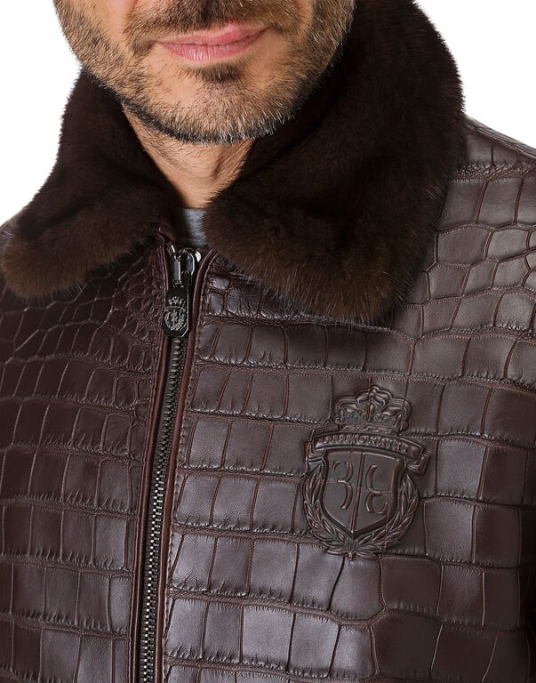 Leather Bomber Luxury