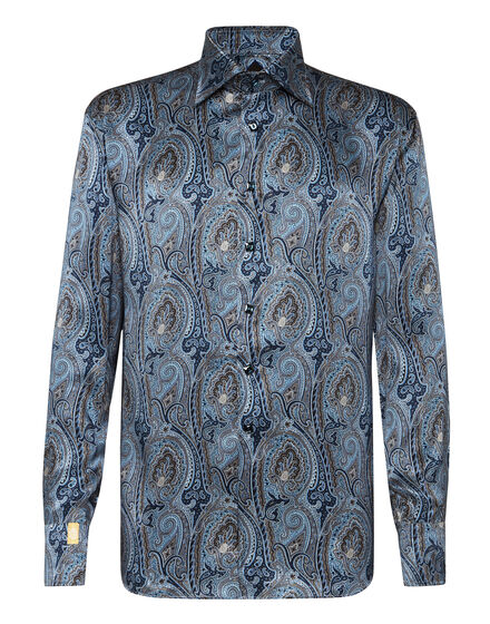 Silk Shirt Silver Cut LS/Flavio Baroque