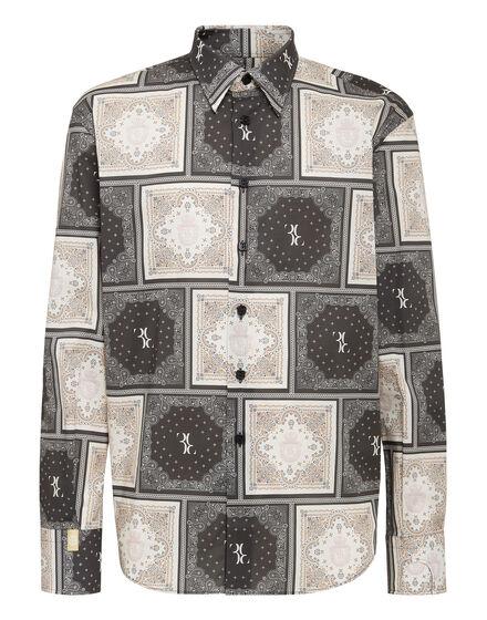 Shirt Gold Cut LS Geometric