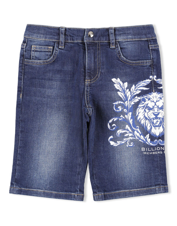 Short Denim Trousers Lion