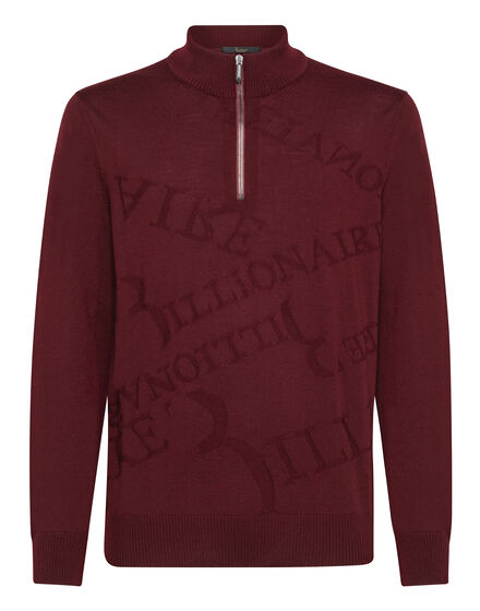 Pullover zip mock Statement