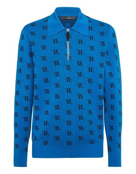 Pullover zip mock LS All over BB