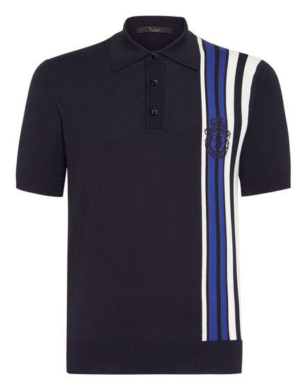 Pullover Polo-Neck SS Stripes