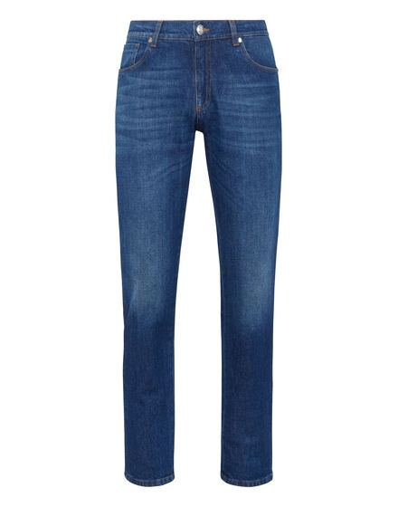 Denim Super Straight Cut Embroidery Istitutional