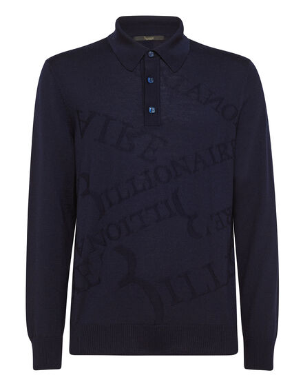 Pullover Polo-Neck LS Logos