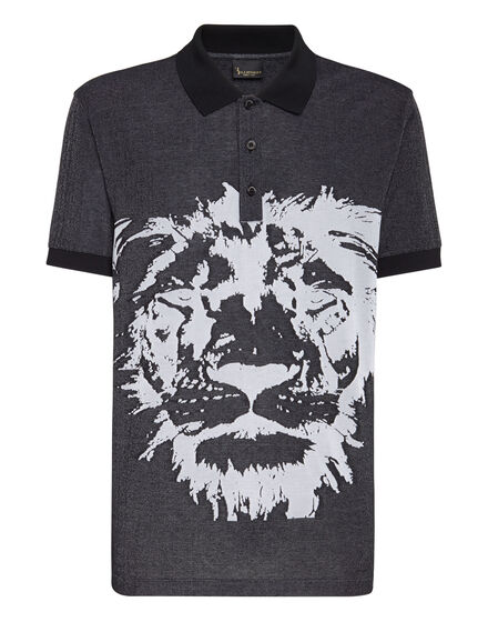 Polo shirt SS Jacquard Lion