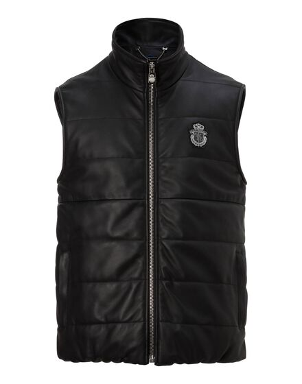 Leather Vest Short Douglas