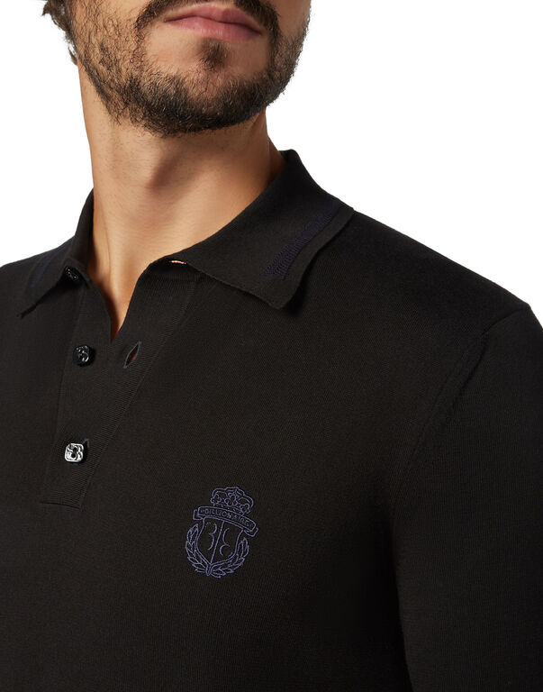 Pullover Polo-Neck SS Crest