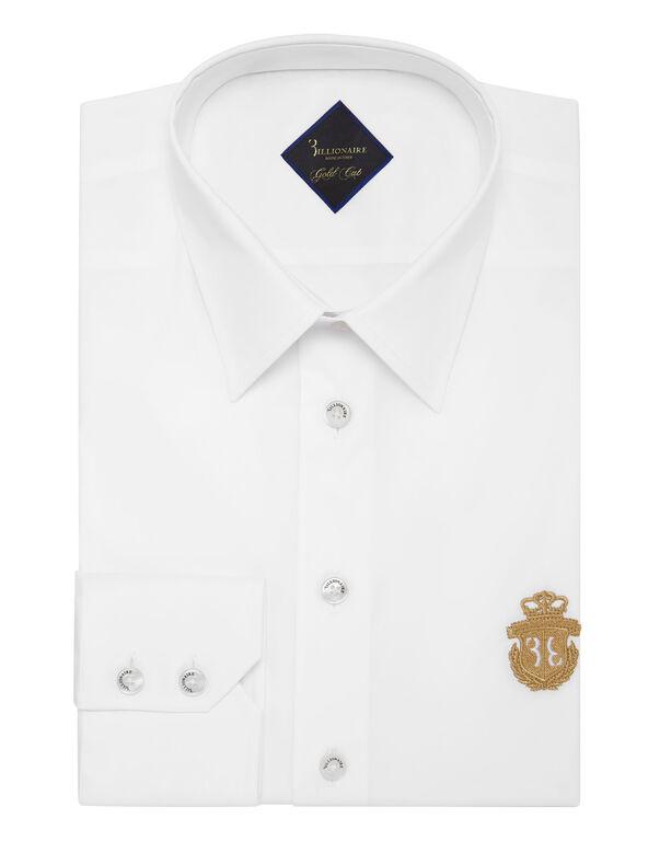 Shirt Gold Cut LS/Milano Crest