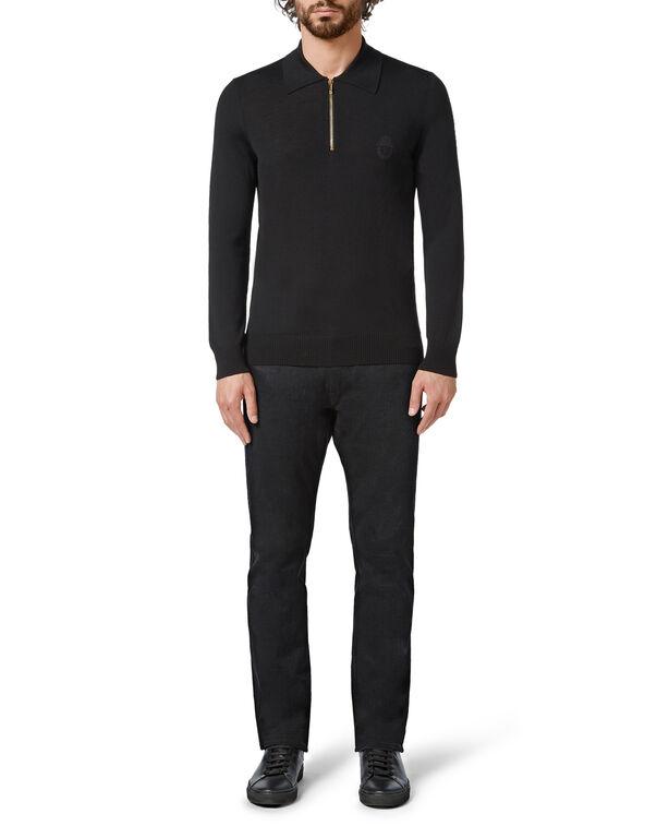 Pullover zip mock Crest